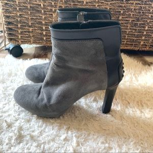 Tod's Suede And Leather Booties